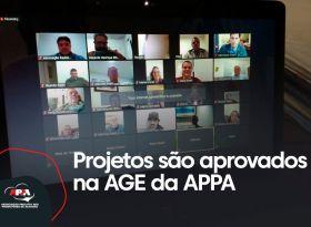 Associados aprovam dois projetos da APPA durante AGE digital